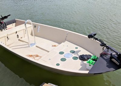 Hog Island with Trolling Motor and Grab Bar