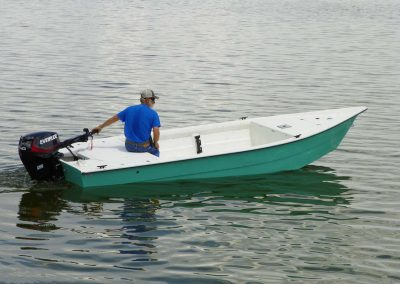 174 Sports Skiff TIller Side